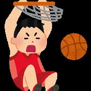 バスケットボールのダンクシュート
