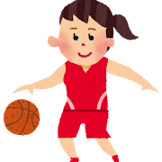バスケットボールのドリブル